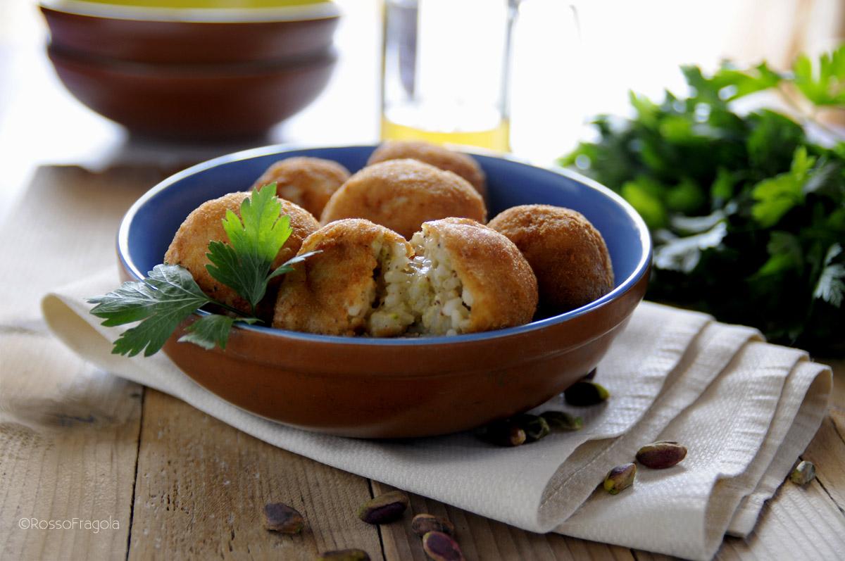 arancini al pistacchio
