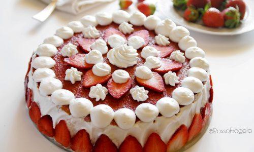 Torta Fragole ricotta e panna – Strawberry Cake