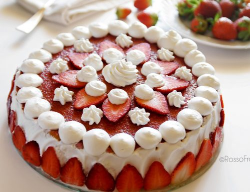 Torta Fragole ricotta e panna – Strawberry Cake