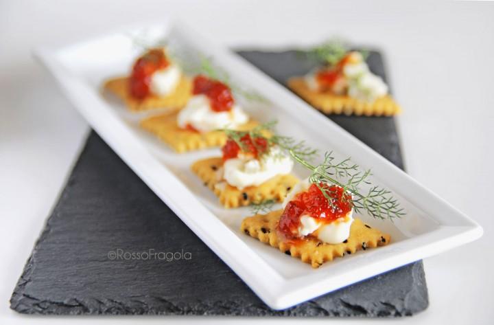 Tartine al gorgonzola
