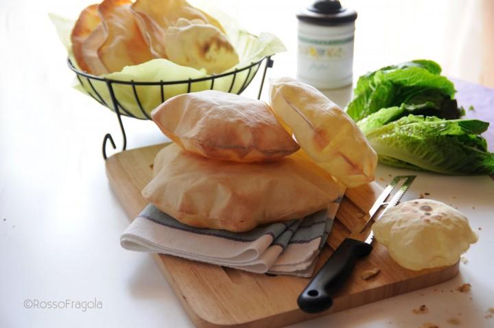 pane pita con pasta madre.