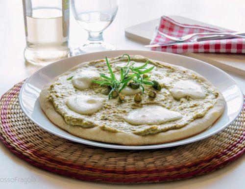 Pizza al pistacchio di Bronte con lievito madre