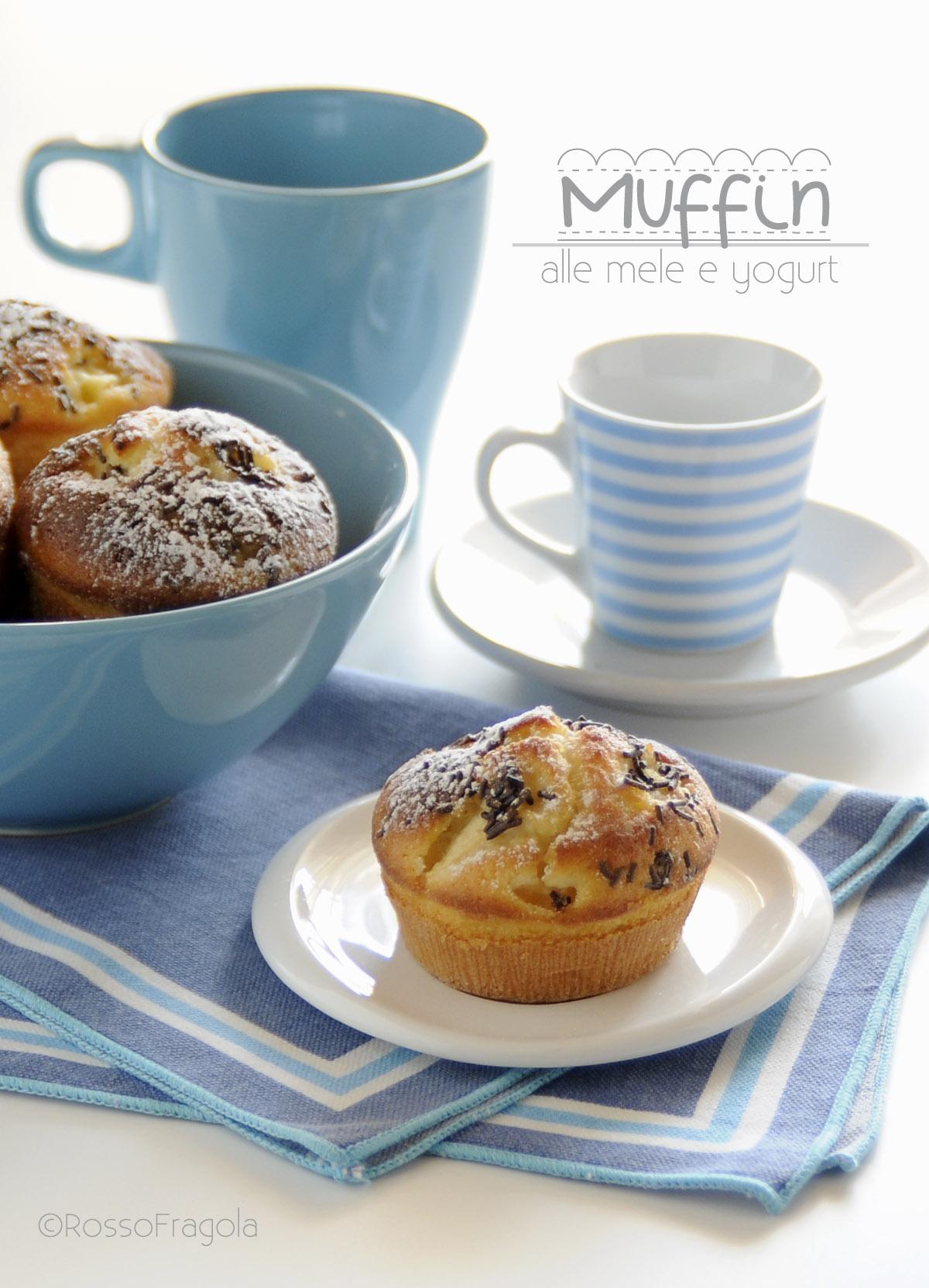 muffin alle mele e yogurt-