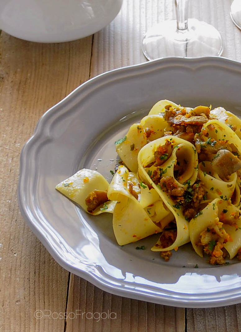 pappardelle ai funghi.