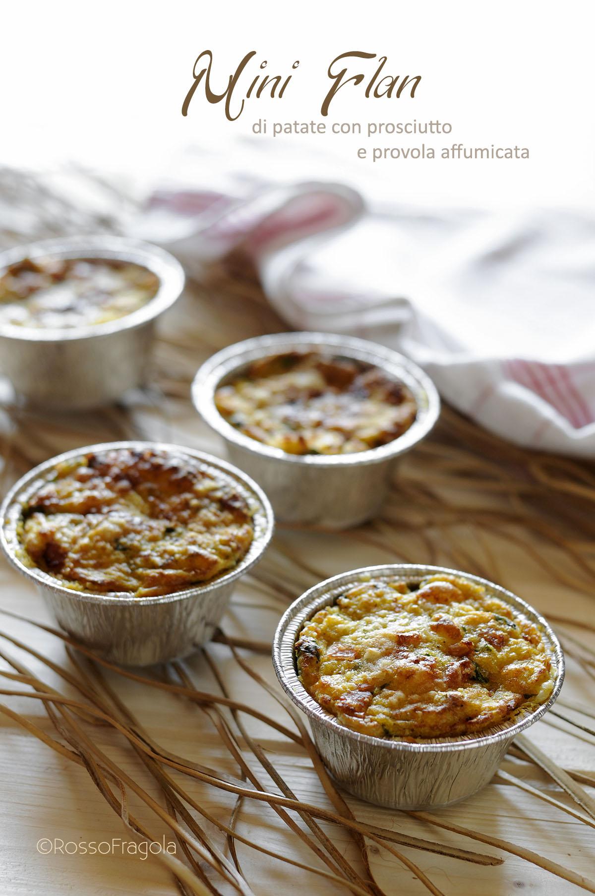 Sformatini di patate con prosciutto e provola affumicata
