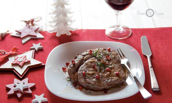 Filetto al rosmarino e melagrana cotto in padella (Chateaubriand al rosmarino e melagrana)