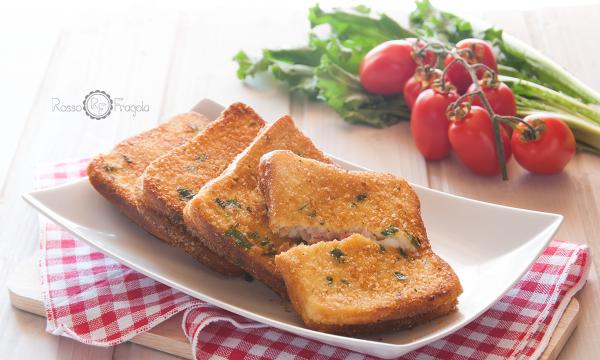Mozzarella in carrozza al prosciutto, ricetta rivisitata super stuzzicante!