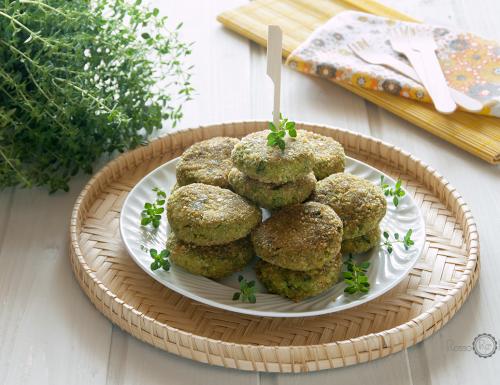Polpette con germogli di senape, zucchine e topinambur