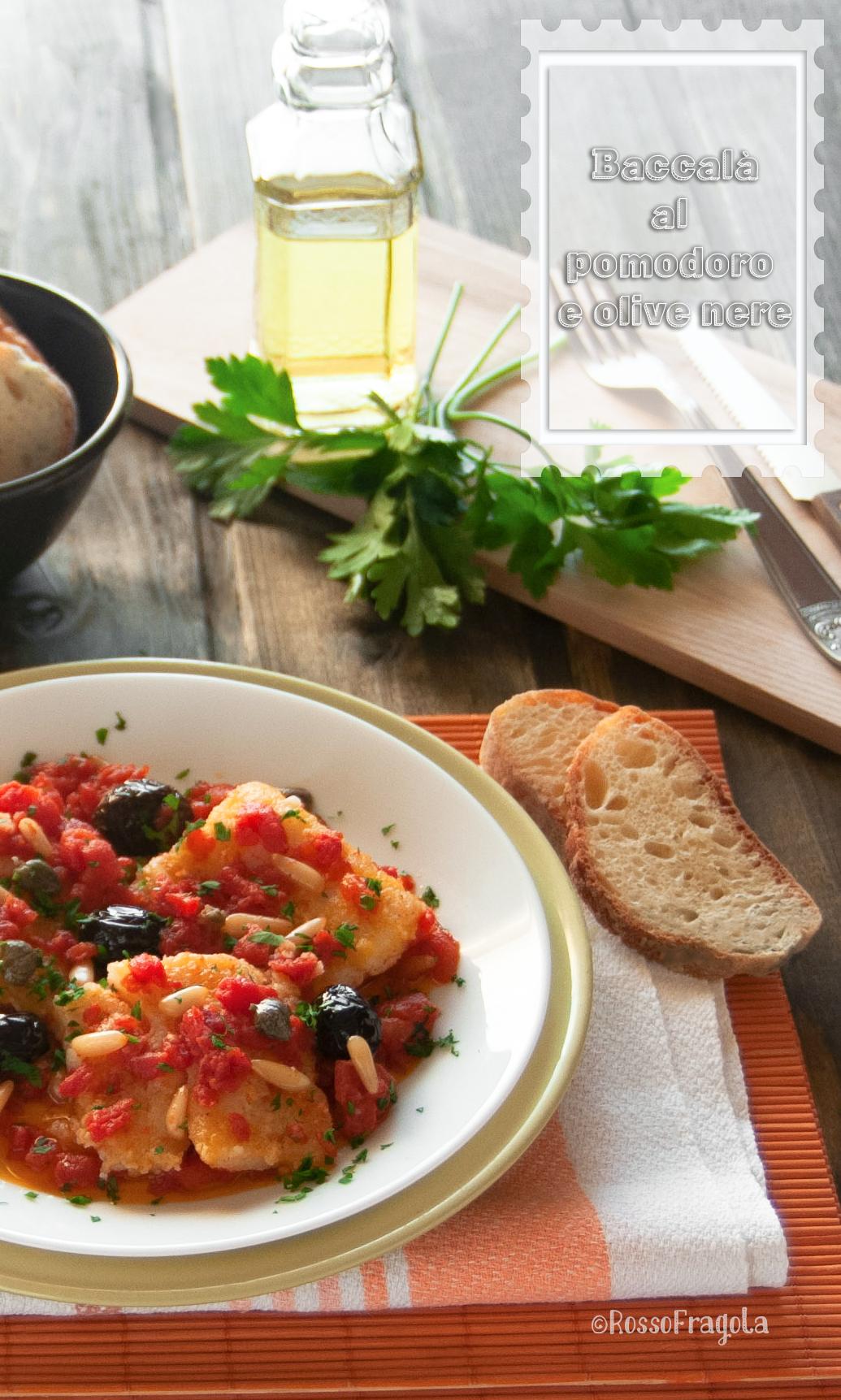 Baccalà al pomodoro e olive nere