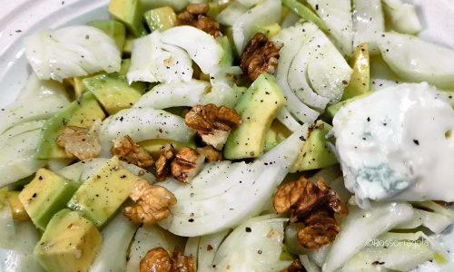 Insalata di finocchi e avocado con gorgonzola e noci… un concentrato di bontà!