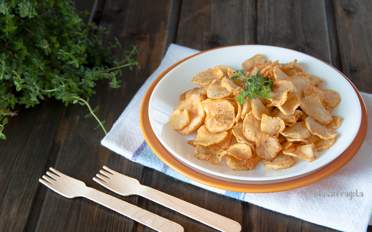 Chips di topinambur alle spezie