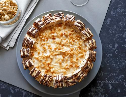 Cheese Cake al burro di arachidi e thè matcha