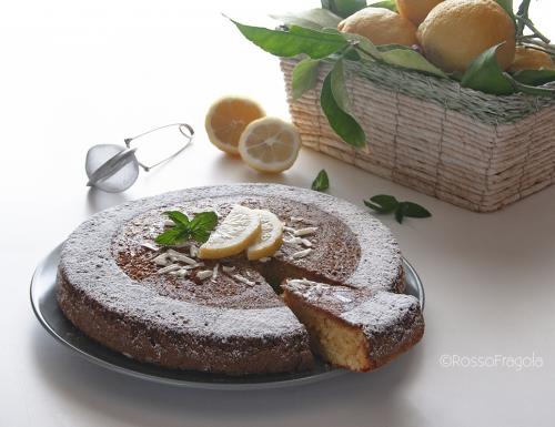 Torta Caprese al limone e cioccolato bianco