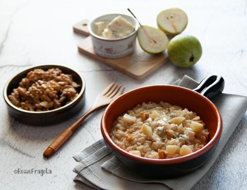Risotto pere gorgonzola e noci
