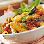Pasta fredda alla fattoressa con verdure grigliate – ricetta vegana