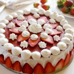 Torta Fragole ricotta e panna - Strawberry Cake