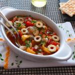 Contorno di Peperoni e Cipolle di Giarratana con aceto balsamico e aromi - ricetta siciliana