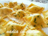 ravioli di spigola on bottarga