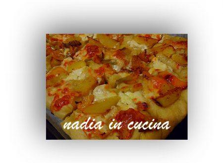 focaccia con peperoni e patate