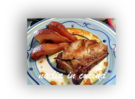 carrè di maiale con miele zenzero e pere