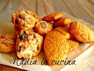biscotti  di pasta frolla con frutta secca