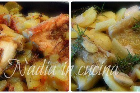 baccalà al forno con patate e scalogni