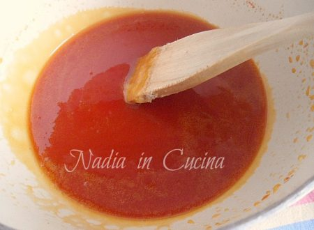 salsa caramellata all'arancia