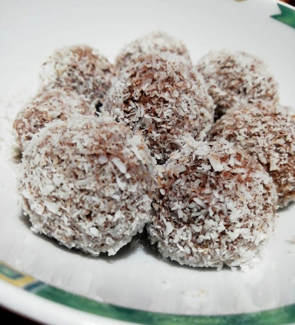 palline al cacao e cocco
