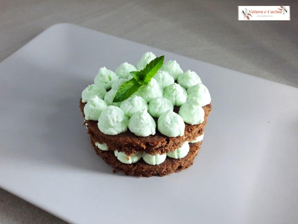 naked cake menta e cioccolato