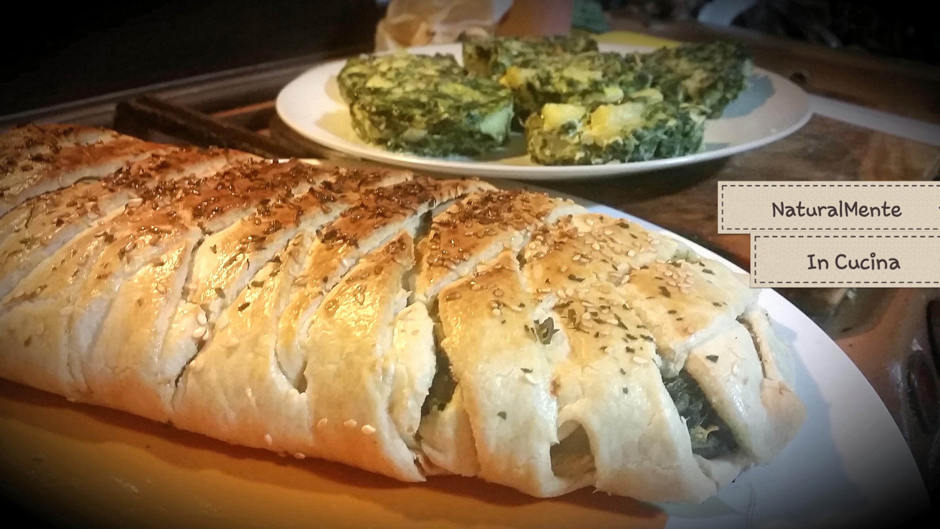 Strudel salato con patate, bieta e formaggio!☆Ricetta Veg☆