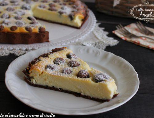 Crostata al cioccolato e crema di ricotta