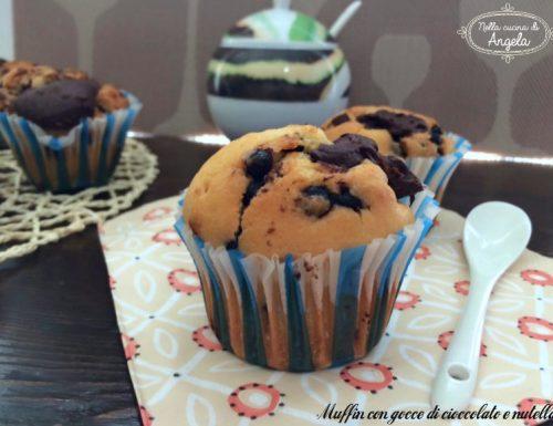 Muffin con gocce di cioccolato e nutella al bimby senza lattosio