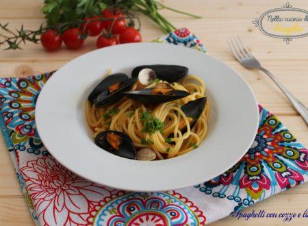 Spaghetti con cozze e lupini