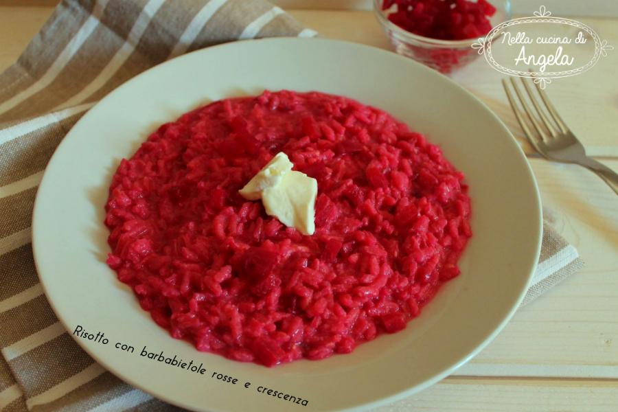 Risotto con barbabietole rosse e crescenza for Cucinare barbabietole