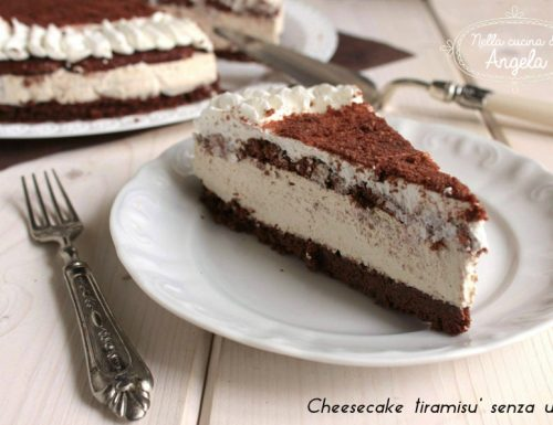 Cheesecake tiramisù senza uova