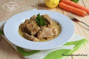 Bocconcini di maiale al curry