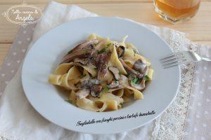 Tagliatelle con funghi porcini e tartufo bianchetto