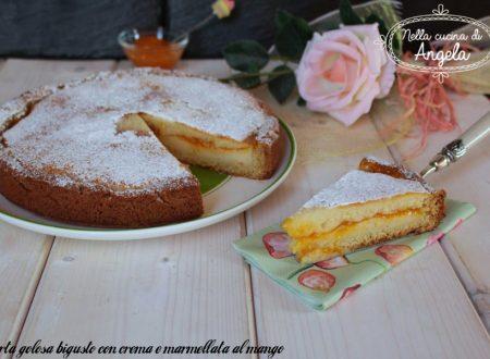 Torta golosa bigusto con crema e marmellata al mango