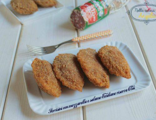 Sorrisini con mozzarella e salame Emiliano riserva Clai