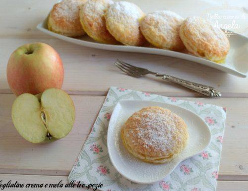 Sfogliatine crema e mela alle tre spezie
