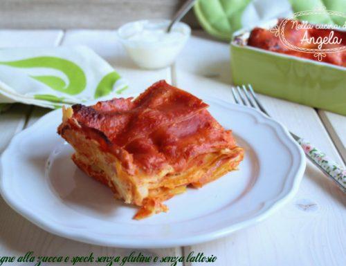 Lasagne alla zucca e speck senza glutine e lattosio