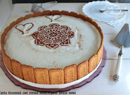 Torta tiramisù con crema mascarpone senza uova