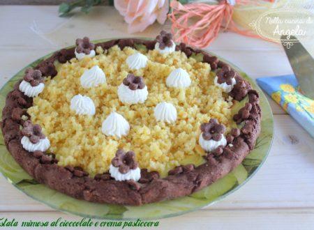 Crostata mimosa al cioccolato e crema pasticcera
