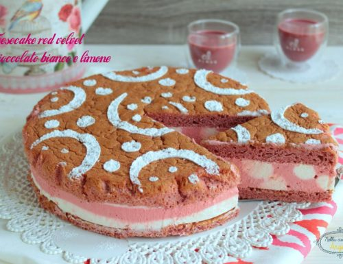 Cheesecake red velvet al cioccolato bianco e limone