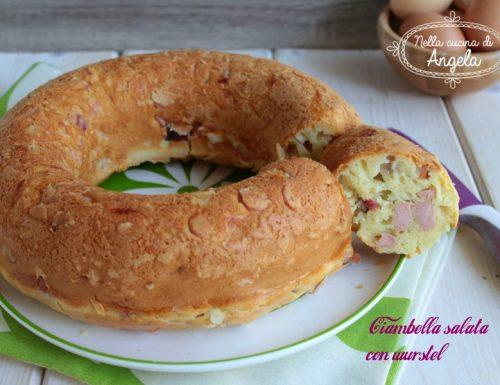Ciambella salata con wurstel