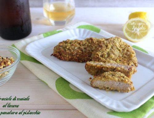 Braciole di maiale al limone con panatura al pistacchio