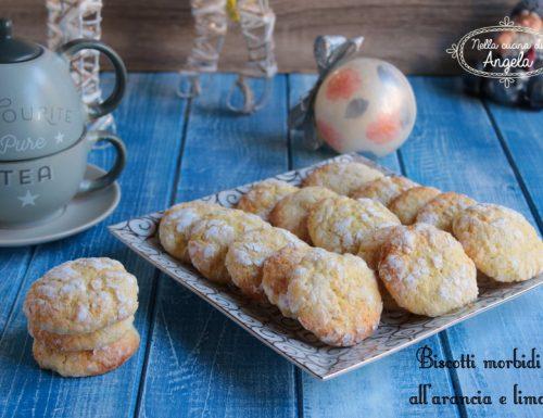 Biscotti morbidi all'arancia e limone