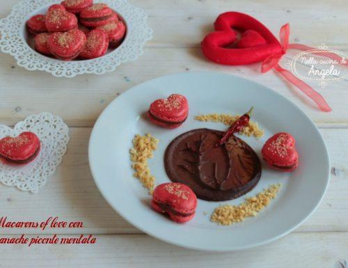 Macarons of love con ganache piccante montata