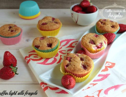 Muffin light alle fragole