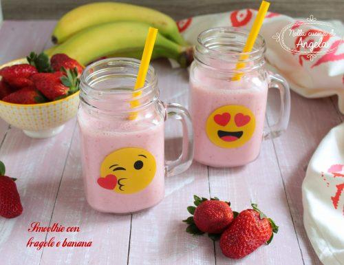 Smoothie con fragole e banana